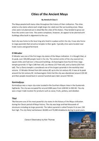Cities Of The Ancient Maya Amelia B Class 5