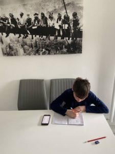 Liam Working Hard