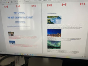 Liam R Persuading Us To Visit Canada